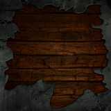 Cracked concrete and wood background Stock Images