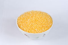 Cracked corn Stock Photo
