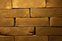 Cracked Dark Red Old Brick Wall Texture. Damaged Brown Abstract Blank Stonewall Background. Ruinous Brickwall Dilapidation In Plac Royalty Free Stock Photos