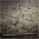 Cracked dark wall with clock background Stock Images