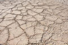 Cracked Dead Sea bottom Royalty Free Stock Photography