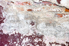 Cracked decay painted concrete wall texture background,grunge wa Royalty Free Stock Photo