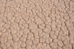 Cracked desert ground. In death valley in california Stock Photography