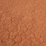 Cracked desert  ground in Wadi Rum Stock Images