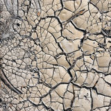 Cracked dirt. Cracked dry dirt on a road in Portugal Royalty Free Stock Image