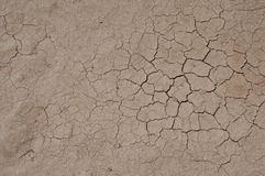 Cracked Dried Earth. In the oasis of Skoura in in the Sahara Desert in Morocco Royalty Free Stock Photography