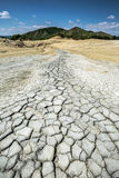 Cracked dried earth Stock Images