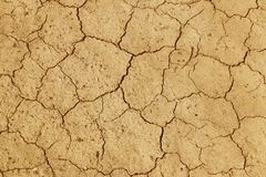 The cracked, dried earth is yellow. A desert without water. Arid ground. Thirst for moisture on a lifeless space. Ecological situa. Tion in the world.Saving royalty free stock photos