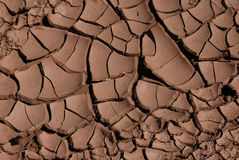 Cracked Dried Mud. In the oasis of Skoura in the Sahara Desert in Morocco Royalty Free Stock Photo