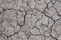 Cracks in the soil Royalty Free Stock Images