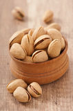 Cracked and Dried Pistachio Nuts Royalty Free Stock Photography
