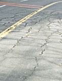 Cracked driving road Stock Photography