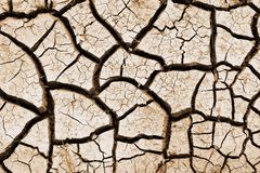 Cracked from drought land. Catastrophic climatic changes on earth. Drought. The results of global warming. Barren agricultural land. Desert royalty free stock image