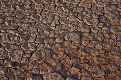 Cracked dry desert floor Stock Photo