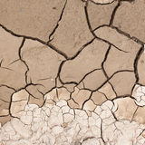Cracked dry earth drought concept background Stock Photos