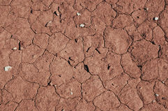 Cracked dry lake bed, Red rock and desert landscape, Southwest USA Stock Photos
