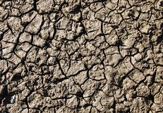 Cracked dry land. Dry land with many cracks stock photos