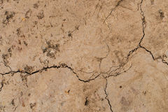 Cracked dry land. Texture background Stock Images