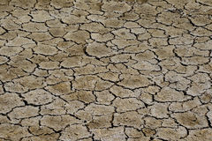 Cracked, dry layer of the earth's surface Royalty Free Stock Images