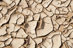 Cracked dry mud over sand Stock Image