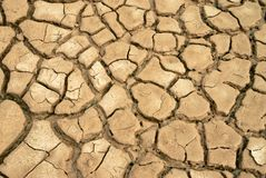 Mud with large cracks. stock image