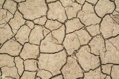 Cracked dry soil. Top view of cracked dry soil ground texture royalty free stock photography