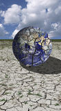 Cracked earth. On dry ground royalty free stock image