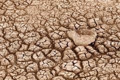 Cracked Earth. Photograph of a dry lake bed at Summer Lake, Oregon royalty free stock photography