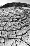Cracked earth. Near Dead Sea in Israel,desert Royalty Free Stock Photo