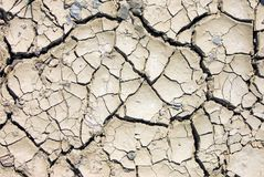 Cracked earth. The ground during a drought Stock Photography