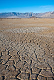 Cracked Earth. Parched earth in Death Valley National Park, California royalty free stock images