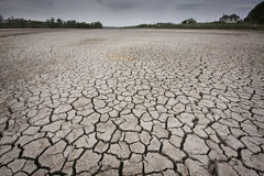 Cracked earth. Concept image of global warming royalty free stock images
