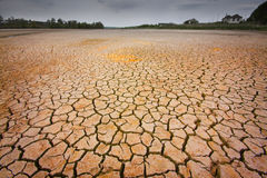Cracked earth. Concept image of global warming stock image
