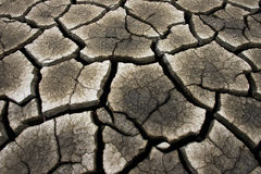 Cracked earth background, clay desert texture Royalty Free Stock Photography