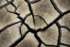 Cracked earth background, clay desert texture Stock Image