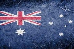 Cracked earth backround with blending  Australia flag Royalty Free Stock Image