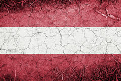 Cracked earth backround with blending  Austria flag Stock Image