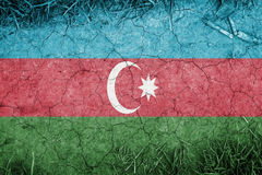 Cracked earth backround with blending  Azerbaijan flag Stock Photography