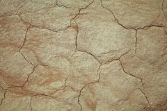 Cracked earth close-up. Close-up of earth cracked because of drought Stock Images