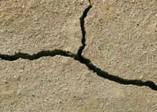 Cracked earth close-up. Close-up of earth cracked because of drought Stock Photo