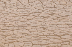 Cracked Earth in Death Valley Stock Image