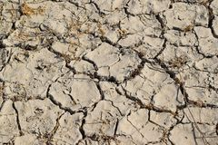 Cracked earth in the desert. royalty free stock photo