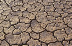 Cracked earth in desert full frame Stock Photo