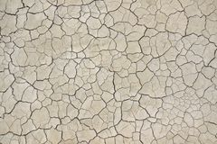 Cracked Earth. Dried and Cracked Desert Ground Stock Images