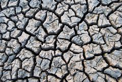 Cracked earth and dry soil texture stock photo