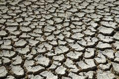 Cracked earth due to drought royalty free stock image