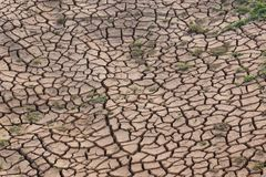 Cracked earth due to drought royalty free stock photography