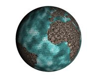 Cracked Earth Globe Stock Images