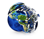 Cracked Earth globe Stock Image