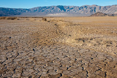 Cracked Earth Landscape. Dry earth ni Death Valley National Park, California royalty free stock images